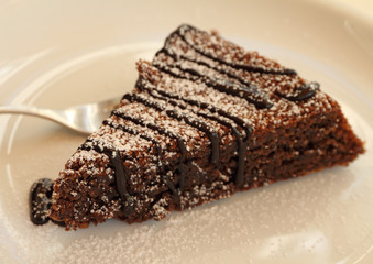 Torta Caprese ( Capri cake ), chocolate and almond cake