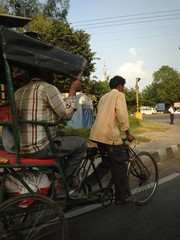 rickshaw pulling