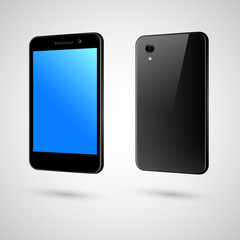 Black touch-screen smart phone