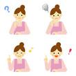 女性 表情 / vector eps