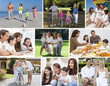 Montage Happy Families Parents & Children Lifestyle
