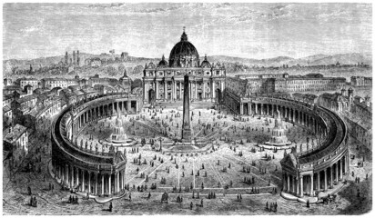 St Peter Church - Vatican-Rome - View 16th century