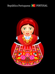 Matryoshka Portugal in Minho Province dress