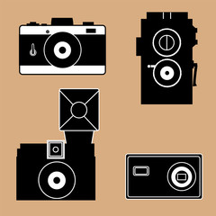 Camera icons in Black