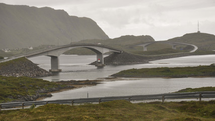 Lofoten, Inseln, Brücken, Norwegen, Skandinavien