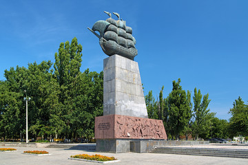 Monument to First Shipbuilders in Kherson, Ukraine
