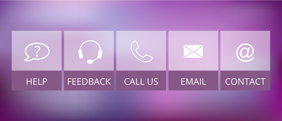 transparent contact buttons, suitable for flat design