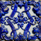 Detail of traditional tiles from Valencia, Spain