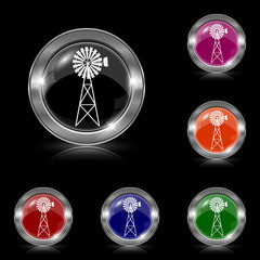 Classic windmill icon