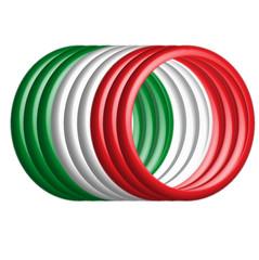 tubo tricolore 3D_Italia