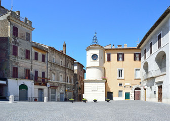 Piazza di Rivarola con Torre dell'Orologio- Tivoli  (RM)