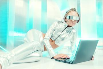 metallic laptop