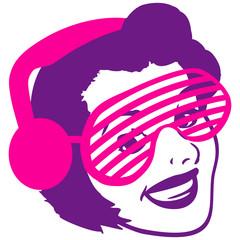 Retro Frau Funky DJ