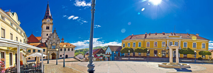 Marija Bistrica square colorful panorama
