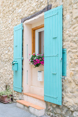 French window with typical shutters