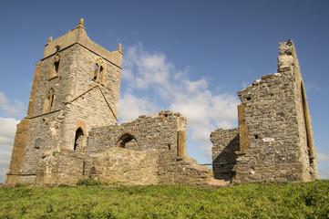 st michael church ruin, historic site on berrow mump