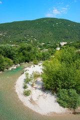 River the Eygues in the Drome Provencal
