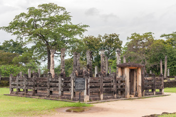 Ancient Buddhist temple in Pollonnaruwa, Sri Lanka