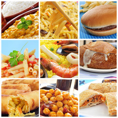 international dishes collage
