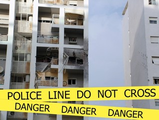 Police line do not cross sign tape