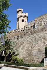 Palma de Mallorca, the royal palace of Almudaina