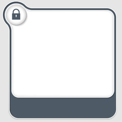 two vector boxes for any text with lock icon