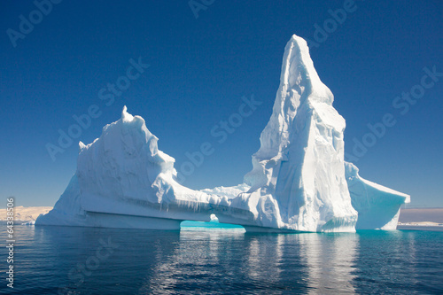 In de dag Gletsjers Beautiful Iceberg, Antarctica