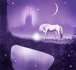 white horse and castle