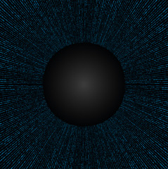 Abstract Technology Blue Circles Background