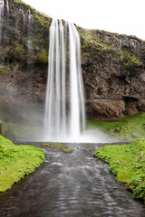 Seljalandsfoss is one of the most famous waterfalls of Iceland.