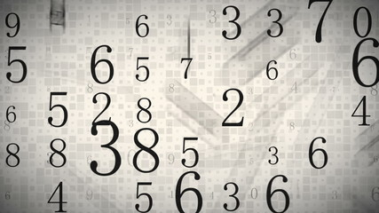 twitching numbers loopable background