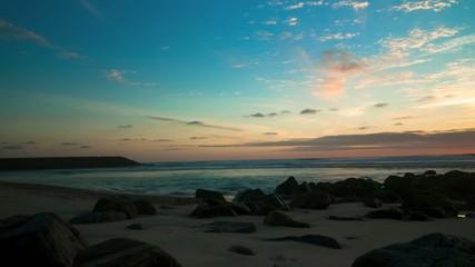 Timelapse Sunset on the beach