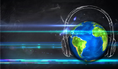 Universal Music Blackboard Background