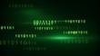 flying green binary digits loop