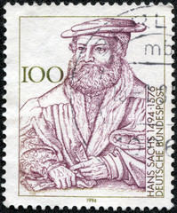 portrait of Hans Sachs, German poet of the sixteenth century