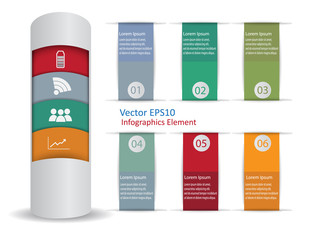 Modern Infographic Elements Vector Background