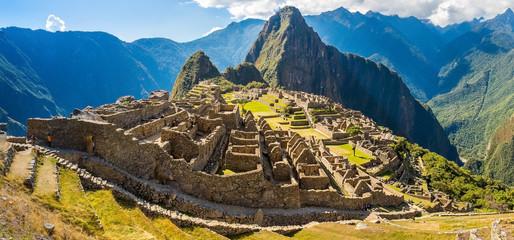 Panorama of Mysterious city - Machu Picchu, Peru,America
