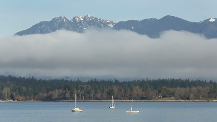 English Bay Fog and Peaks