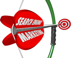 Search Engine Marketing SEM Bow Arrow Targeted Advertising