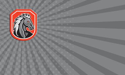 Horse Head Shield Retro Business card