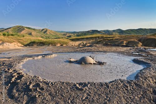 Deurstickers Canarische Eilanden Mud Volcanoes in Buzau, Romania