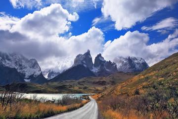 Vertiginous landscape in the Chilean Andes
