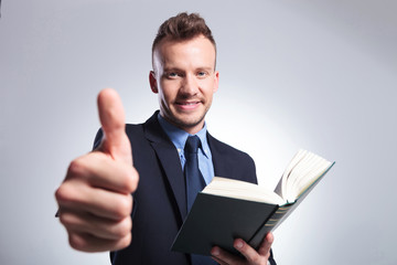 business man recommends reading