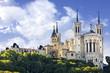 Leinwandbild Motiv Basilica of Notre Dame de Fourviere, Lyon, France
