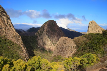 mountain landscape of the island of La Gomera.