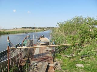 印旛沼の古い桟橋