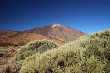 Teide Mountain and rock formation. Tenerife.