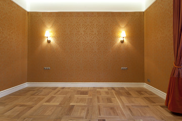Interior of empty bedroom