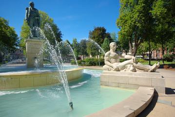 Fontaine du square Hansi à Colmar