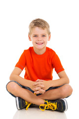 child sitting on the floor